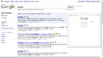 enabling Google Instant Previews