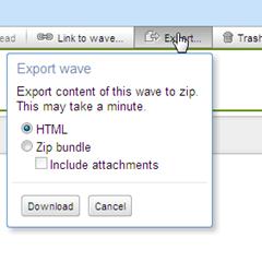 export or download waves
