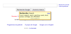 in-line translation of words with Google Dictionary and Google Translate Firefox add-on