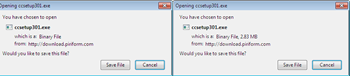 show file size shows file size in Open with dialog box