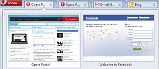tab stacking Opera