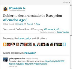 translated tweets in details pane in twitter