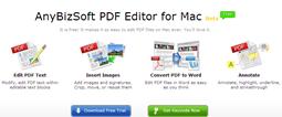 AnyBizSoft PDF Editor for Mac Beta free keycode