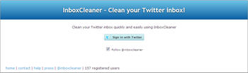InboxCleaner cleans twitter inbox