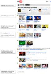 YouTube experimental homepage