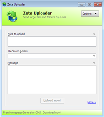 Zeta Uploader windows client