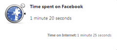 know time spent on Facebook with Facebook Runner Opera Extension
