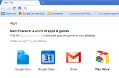 new Chrome Web Store icon with Google Web Apps
