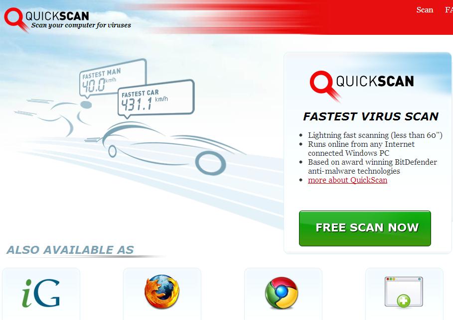 BitDefender QuickScan : Quick & Free Security Check for PCs