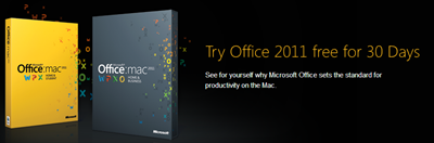 Office 2011 for Mac 30 days  free trial