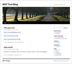 WOT for blogs WordPress Plugin