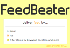 feedbeater delivery of feed through RSS or email