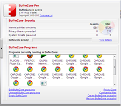 BufferZone Pro freeware