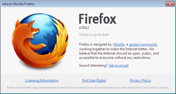 ... Firefox 4 Beta 12 thumb Firefox 4 Beta 12 Download Now Available
