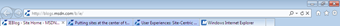 Put tabs on a separate row in IE9
