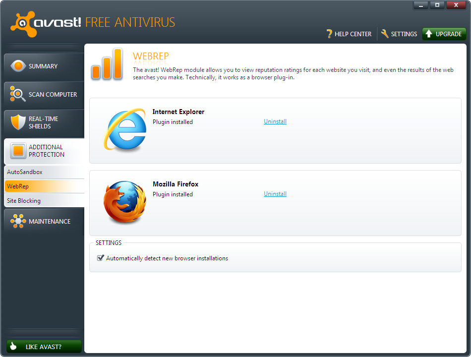 Uninstall WebRep Plugins Turn off or Disable Avast's WebRep Safety Ratings for Websites and Search Results