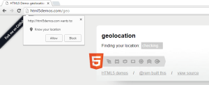check for a browser's geolocation support