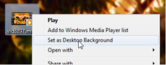 set video as desktop background in windows 7 with DreamScene Seven