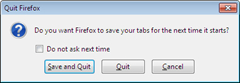 Make Firefox 4 to prompt to Save tabs and tab groups (panorma) on exit