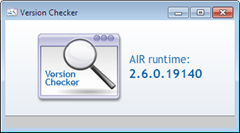 Adobe AIR Version Checker