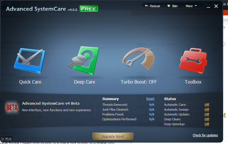 Download Advanced SystemCare Free 4