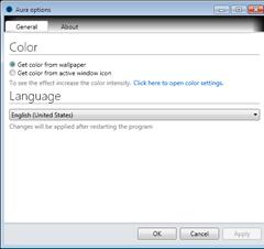 Aura enables Windows 8 Aero Auto colorization in Windows 7