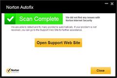 AutoFix scan result
