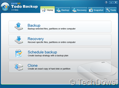 EASEUS Todo Backup 2.5 Beta user interface