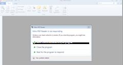 Nitro PDF Reader is not responding