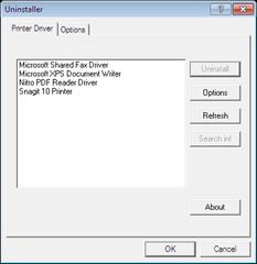 Printer Driver Uninstaller Tool