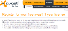 Registering Avast Free Antivirus thumb How to Register Avast Free Antivirus to Get One Year Free License Key