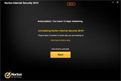 uninstall Norton Internet Secuirty 2012