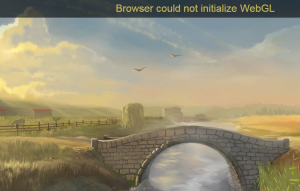 Browser Could not initialize WebGL