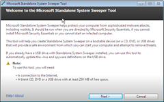 Microsoft Standalone System Sweeper tool