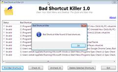 Bad Shortcut Killer