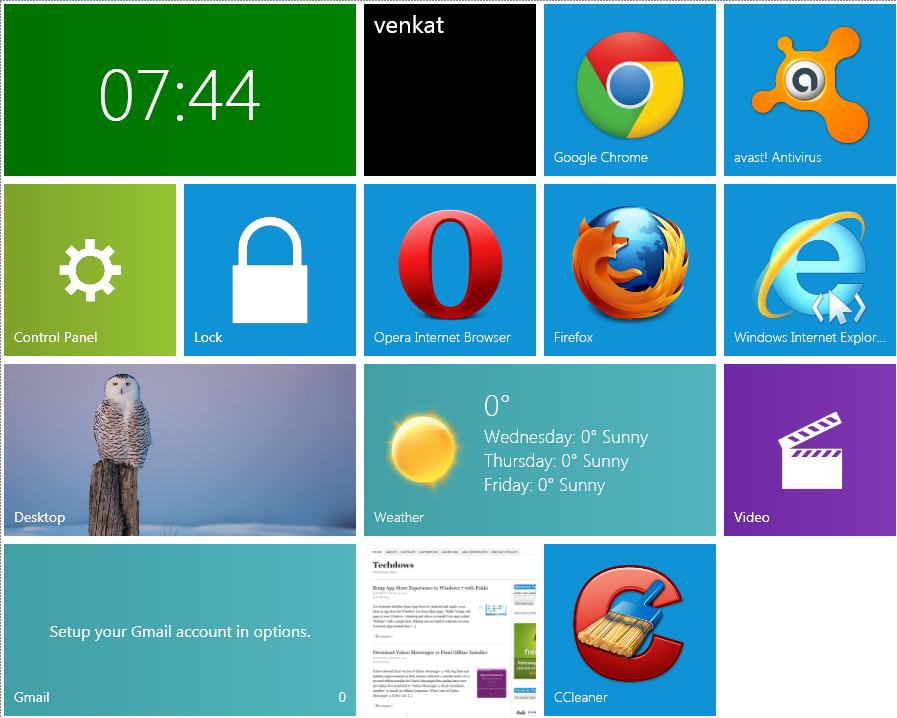 Mosaic Brings Windows 8 Metro UI Live Tiles to Windows 7