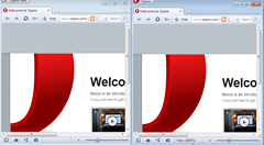 Opera Next and Opera side by side comparison