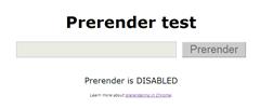 Prerendering test