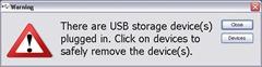 USB Alert Warning