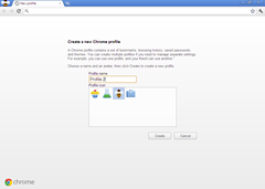 create a new chrome profile