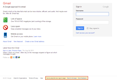 Gmail new signin page