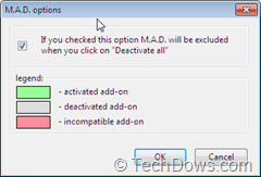 Multiple Addon Deactivator options