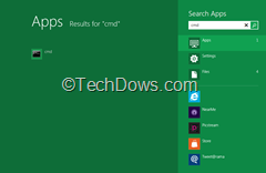 Command prompt app icon