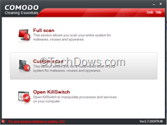 Comodo Cleaning Essentials thumb Comodo Cleaning Essentials, Portable Malware Scanner with KillSwitch Utility to remove Suspicious Processes