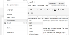 Download Translated document from Google Docs
