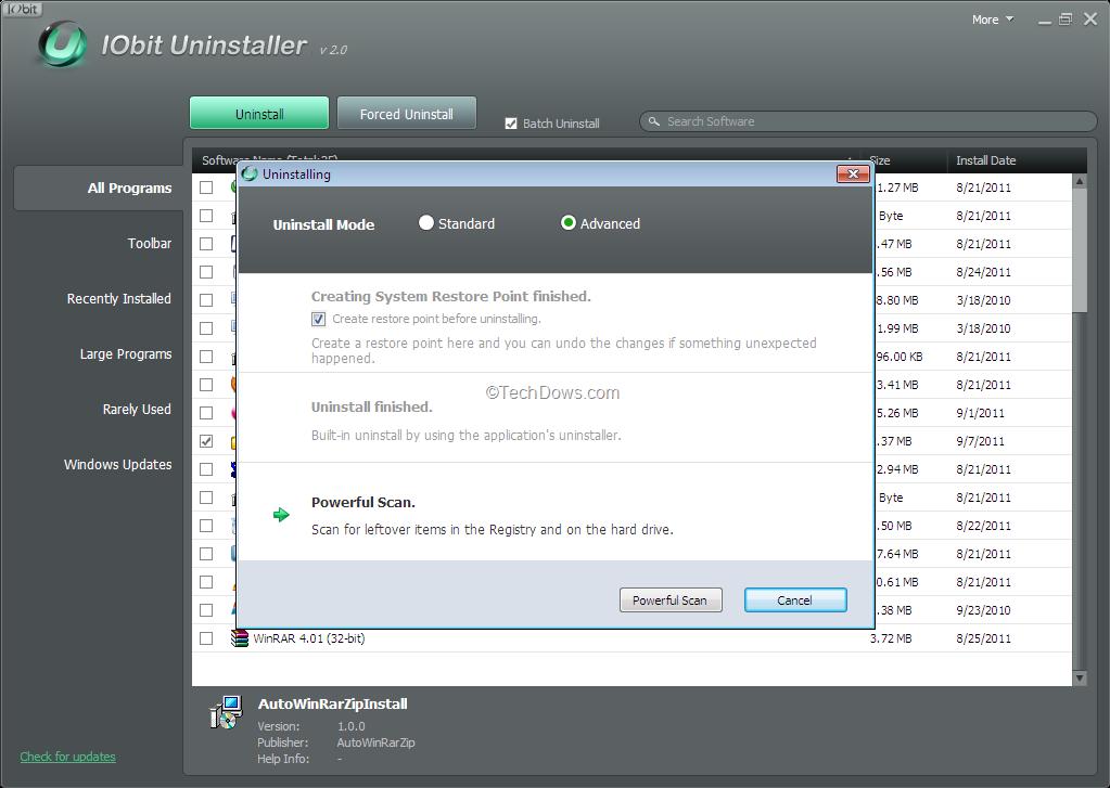 البرامج IObit Uninstaller IObit-Uninstaller-ba
