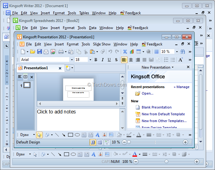 Download Kingsoft Office Suite Free 2012