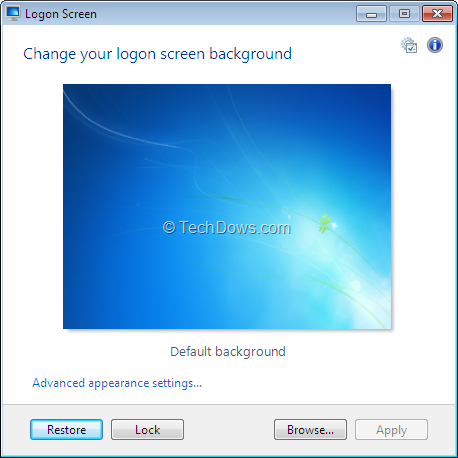 how to change windows 7 startup background