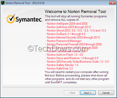 Norton Removal Tool 2012 thumb Norton Removal Tool 2012 Now Available, Removes Norton Products Including Released in 2012 Also