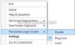 Personalize win7 Logon screen with Bing images